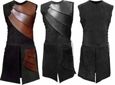 Real leather medieval re-enactment theatrical celtic Armor LARP SCA viking sued