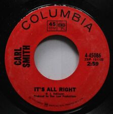 Country 45 Carl Smith - It'S All Right / Pull My String And Wind Me Up On Columb