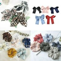 Women Hair Scrunchie Knot Bow Hair Band Hair Tie Elastic Ponytail Holder Bands