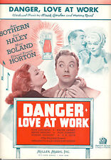 DANGER, LOVE AT WORK Sheet Music Ann Sothern Jack Haley Mary Boland