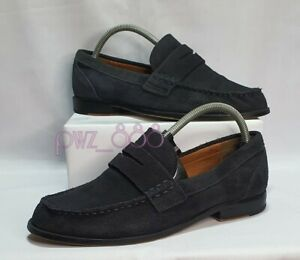 COACH Suede Dark Blue Loafers Shoes Size 8
