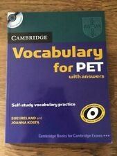 Cambridge: Vocabulary for PET with Answers & Audio CD - Paperback - ESL English