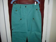 $64 JONES NEW YORK SIGNATURE Cargo WOMENS PANT capris 100% COTTON SIZE 6P NWT