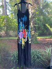 💕 $338 JOHNNY WAS LINSU TROPICAL EMBROIDERED MAXI TANK DRESS SZ SMALL NEW 💕