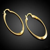 Pair Wonderful Filled Plating Ring In 14k Hot Oval-shaped Oval Earrings Gold