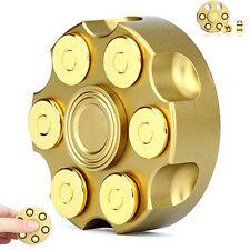 Cowboy Revolver Fidget Hand Spinner EDC Focus ADHS Anti Stress Brass Dsek Toy DE