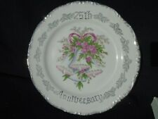 25th Anniversary Porcelain Plate with Bells
