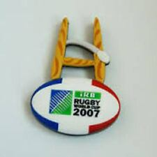 RUGBY WORLD CUP RWC 2007 GOAL POSTS FRANCE RUBBER 3D MAGNET OVAL