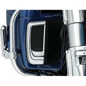 Kuryakyn 5063 Chrome Tracer LED Fairing Lower Grilles - Run & Turn White & Amber