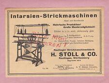 REUTLINGEN, Werbung 1932, H. Stoll & Co. Strick-Maschinen-Fabrik
