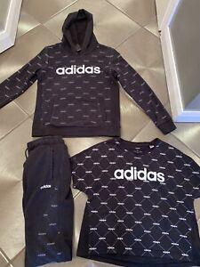 Women adidas Black Tracksuit With Shirt Size 8 10