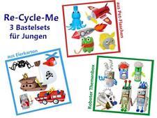 Re-Cycle-Me - 3er Bastelset für Jungen basteln mit Eierkarton, PET-Flasche NEU