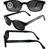 KD's Sunglasses Original Biker Shades Motorcycle Pipe Frame Smoke Lens 2227
