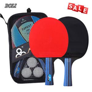 BOLI Tischtennisschläger - Set New Contest/2 Schläger/3 Bälle/1 Tasche