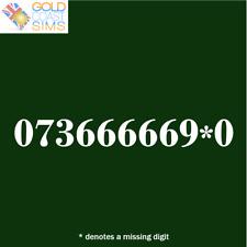 073 666669*0 Gold Memorable VIP UK Fancy Mobile Phone Number SIM Card / PAC 666