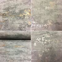 Concrete Stone Industrial Brick Wallpaper Paste The Wall Embossed 2 Colours