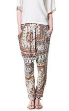 ZARA silk african print harem pants Size XS / AUS 6 - 8 / US 2 - 4 / UK 6 - 8