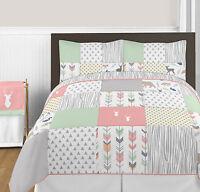 New Girls Teens Pink Aqua Flowers Comforter Bedding Set Ebay