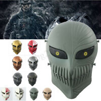 Cosplay CS War Game Tactical Airsoft Paintball Full Face Protective Skull   +(