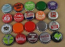 Lot mit 20 bière Coca-Cola Pepsi et autres SODA capsules de USA BOUTEILLE caps