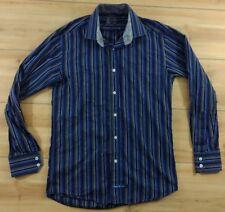 English Laundry Striped Flip Cuff LONG SLEEVE SHIRT Small 14.5 x 32/33 (14 1/2)
