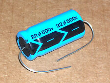 10 pc 500vdc 22uf 85C Axial Alum. Elec.Capacitor Used in Fender, Gibson, Valco
