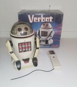 Vintage 1984 VERBOT Programmable Robot With Box and Remote - TESTED AND WORKING!