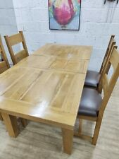 Solid Oak Extending Dining Table, 4 Chairs, Good Condition, Free Delivery 🚚