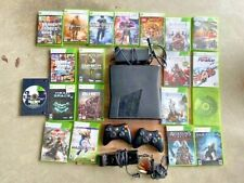 Xbox 360 Slim Matte Bundle 20 Games 2 Controllers call of duty creed madden gta