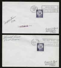 1954 Liberty Issue 3¢ on Lot of 2 Special Event in 1957 Covers, Scott # 1035