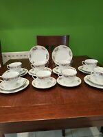 Bone China Vintage 24 Piece Tea Set, 8 person Excellent