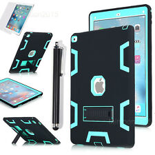 iPad Pro 12.9, Armor Shockproof Protective Stand PC Case Cover +Screen Protector