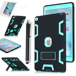 """For iPad Pro 12.9"""" 2015/2017 Hybrid Armor Shockproof Heavy Duty Stand Case Cover"""