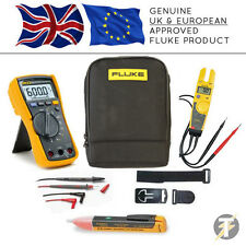 Fluke 115 TRUE RMS MULTIMETER kit97, t5-600 Tester Tensione, tpak3, 1AC e Custodia