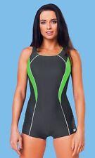 Badeanzug mit Bein von gWinner Modell Jana Größe 38 in der Farbe grau/grün Neu