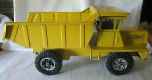 Vintage 1960's Steel Pressed Buddy L Large Yellow Mack Construction Dump Truck
