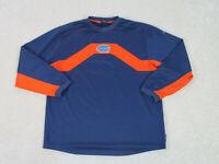 Nike Florida Gators Shirt Adult Large Blue Orange Long Sleeve Football Mens A32*
