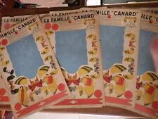 JEU ou JOUET A DECOUPER  ANCIEN / LA FAMILLE CANARD lot de 7 planches vers 1935