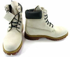 Timberland Boots 6 Inch Premium Cream Off White Shoes Size 7.5