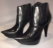 Edgy Balenciaga Black Leather Ankle Boots - Size 36, UK 3, BNIB