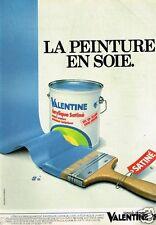 Publicité advertising 1982 La Peinture Valentine