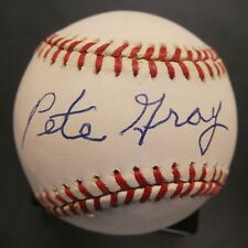 Pete Gray Game Used Signed Baseball with JSA COA