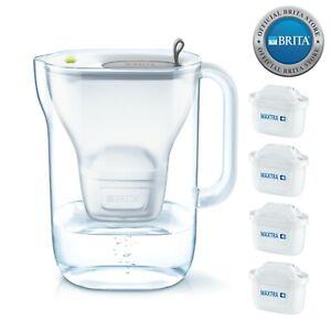 NEW Brita Style Water Filter Jug 2.4L & 4 x Maxtra+ Filter Cartridges - Grey