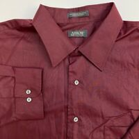 Arrow Button Up Shirt Mens 3XL Maroon Long Sleeve Casual