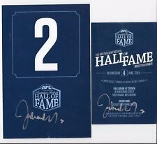 HALL OF FAME  2014 PROGRAM / TABLE CARD & ENTRY TICKET SIGN BY JOHN NICHOLLS