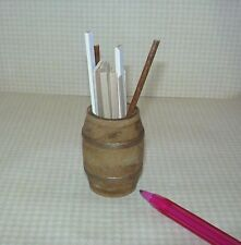 Miniature Wooden Barrel of Scrap Wood for DOLLHOUSE Workroom: 1/12 Miniatures
