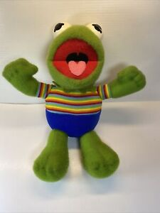 Vtg 1983 MUPPET BABIES Muppets HASBRO Softies Plush Stuffed KERMIT THE FROG