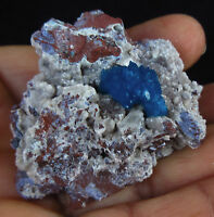 Rosette of Dark blue Cavansite on matrix of Heulandite,Wagholi,Pune-India # 5626