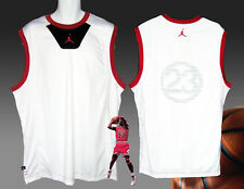 Nike JORDAN Premium 23 Basketball Shirt JERSEY  White / Red & Black Trim  XXL