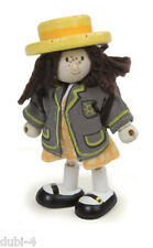 Le Toy Van - Budkins BK927 - Biegepuppe School Girl Amy Schulmädchen Puppenhaus